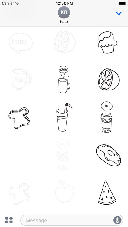 Animated Cute Breakfast Stickers screenshot-3