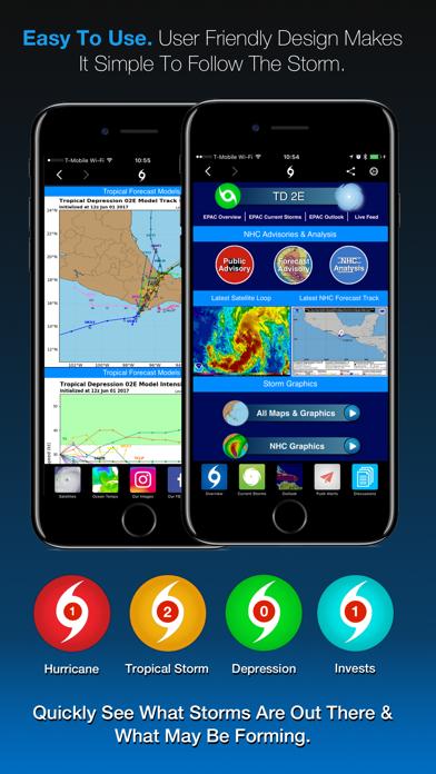 Hurricane Tracker review screenshots