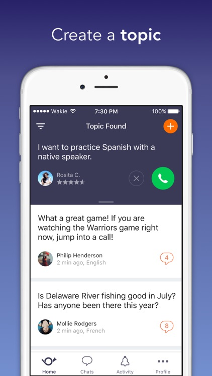 Wakie: Talk to People