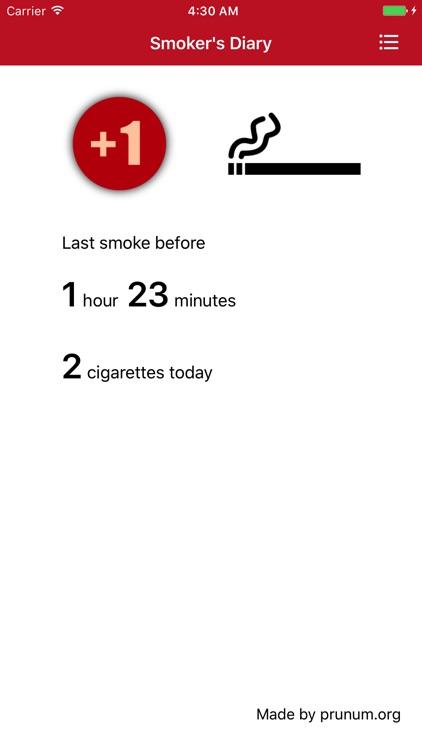 Smoker's Diary