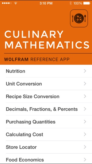 Wolfram culinary mathematics reference app on the app store screenshots forumfinder Images