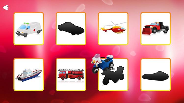 Trucks and Shadows Puzzles Games screenshot-3