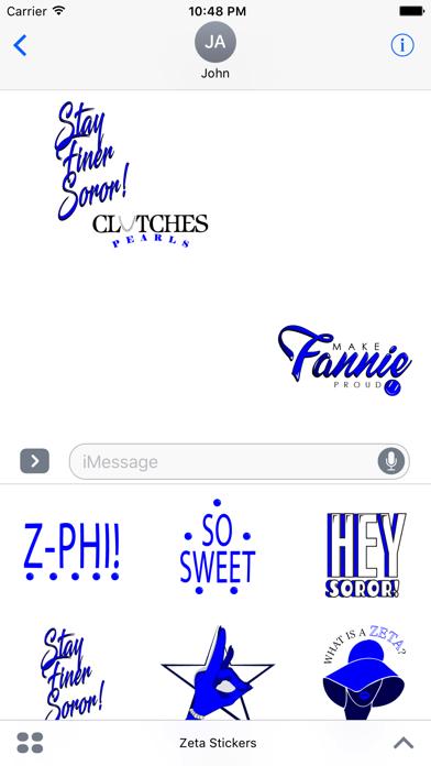 Zeta Stickers screenshot two