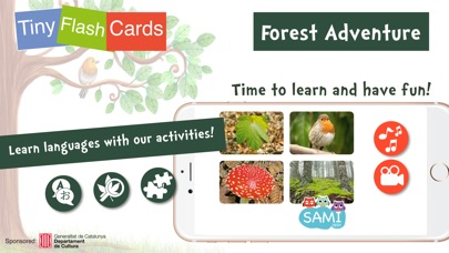 Screenshot #6 for Sami Tiny FlashCards forest adventures kids apps