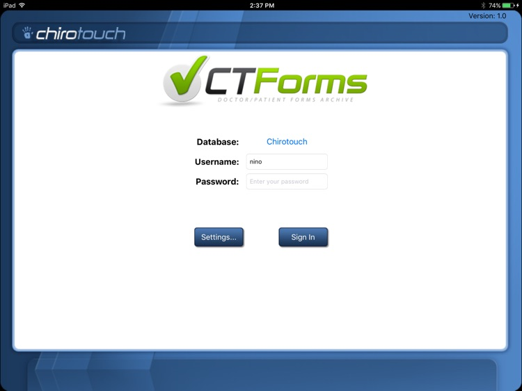 CT Forms Mobile 6.7 screenshot-0