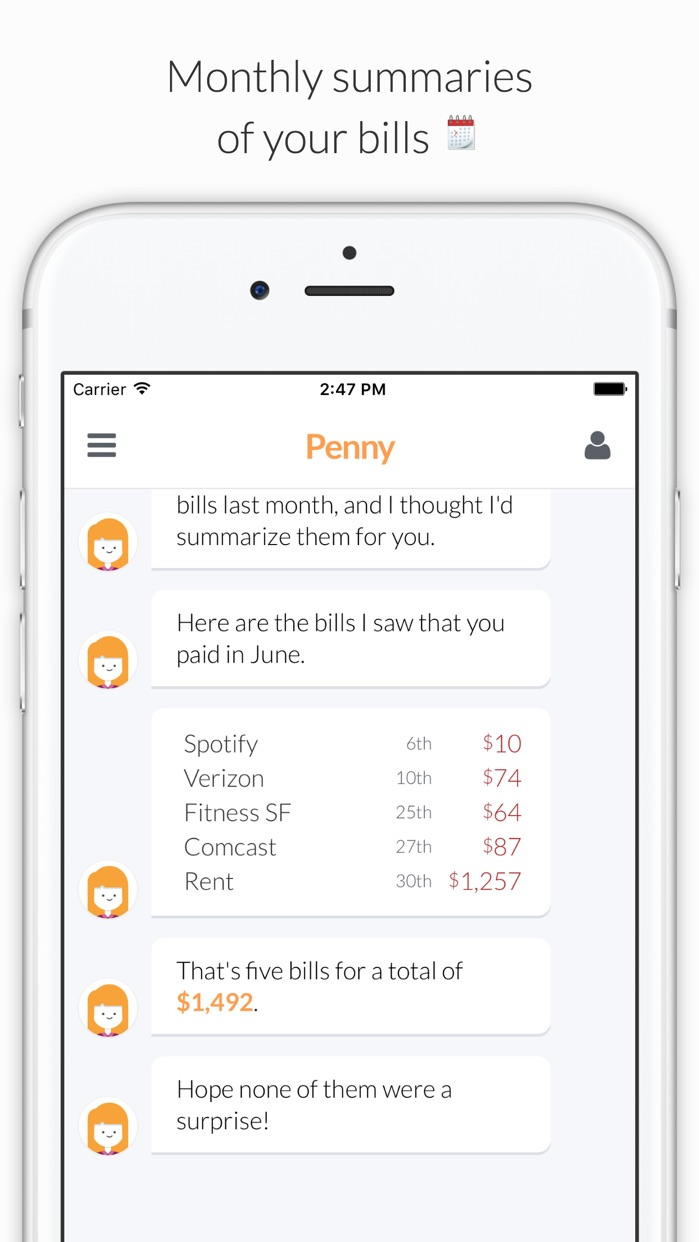Penny - Track Your Money, Bills, Saving & Spending Screenshot