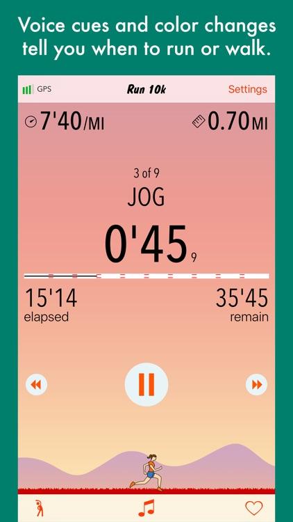 Run 10k - interval training program + stretches screenshot-3
