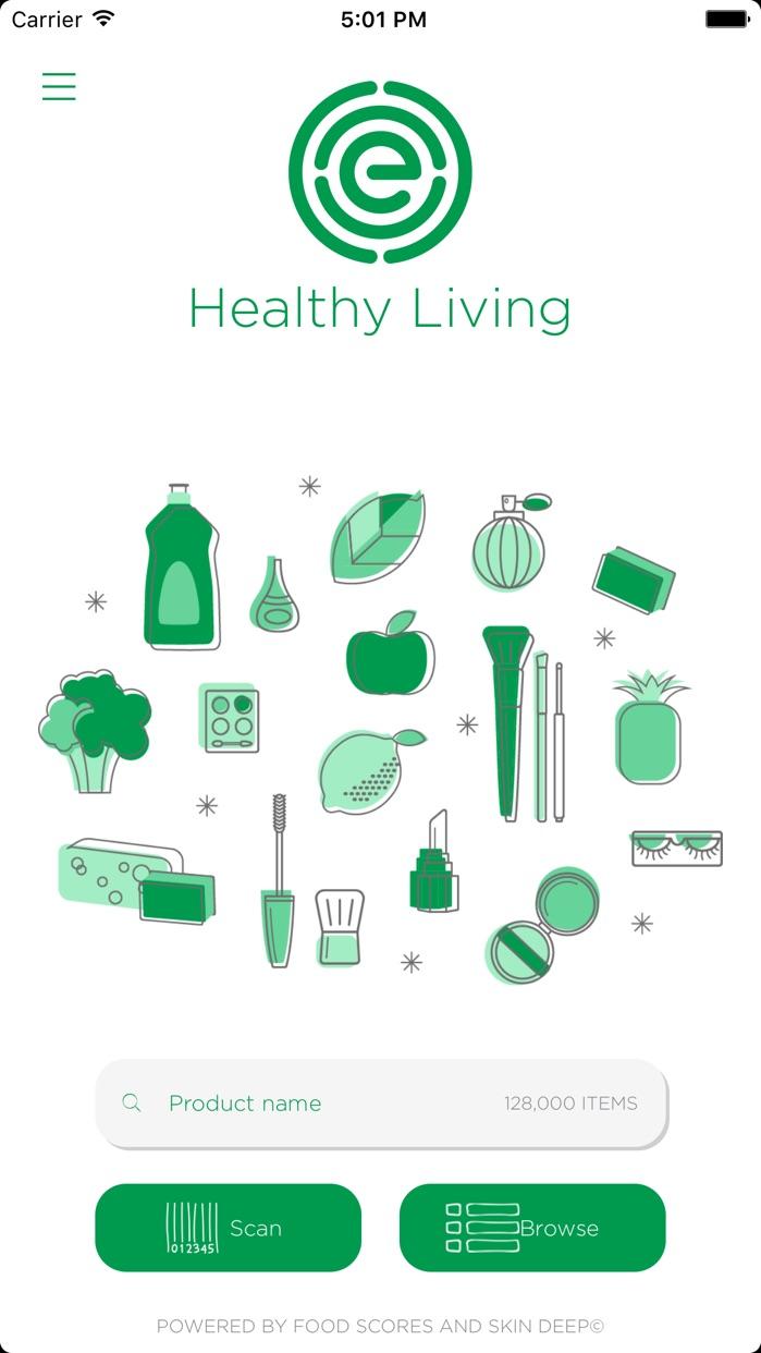 EWG's Healthy Living Screenshot