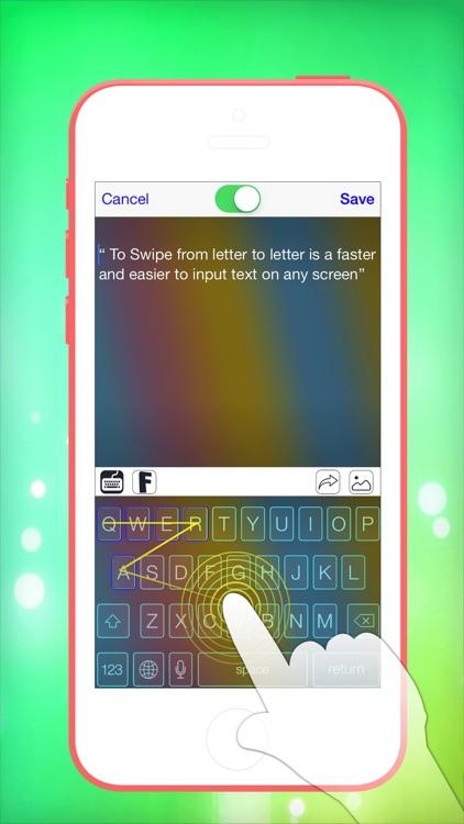 Pimp My Keyboard To Swipe & Type & Cool Fonts screenshot-4