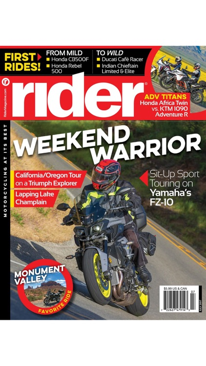 Rider Magazine, Motorcycling at its Best