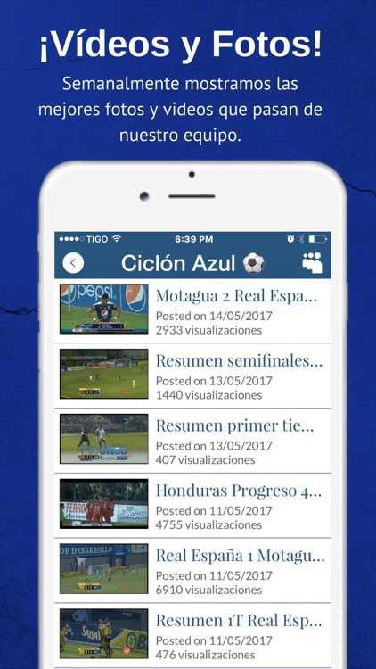 El Ciclón Azul del Motagua - Futbol de Honduras