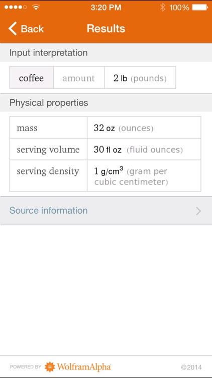 Wolfram Culinary Mathematics Reference App screenshot-4