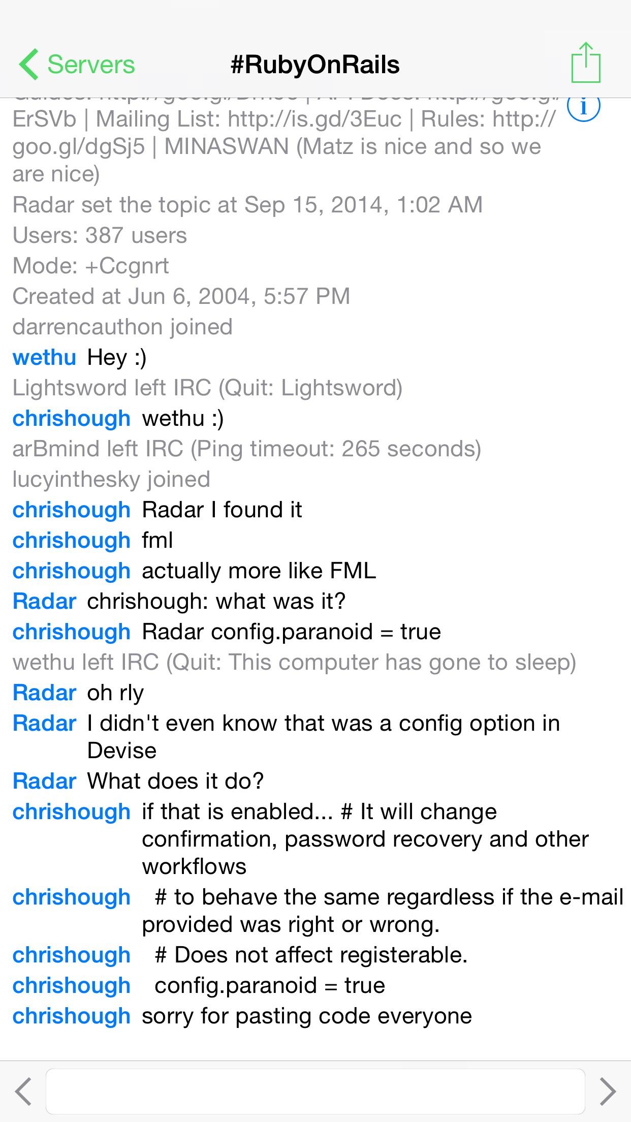 LimeChat - IRC Client Screenshot