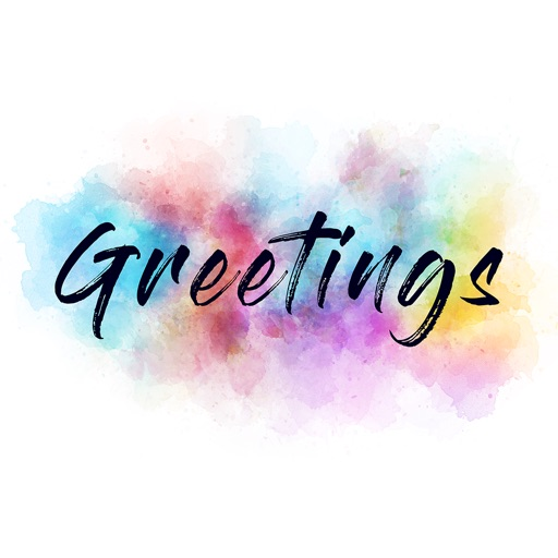 Greetings - Animated WaterColor Bloom