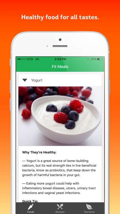 Fit Meals - healthy recipes and diet ingredients screenshot-4