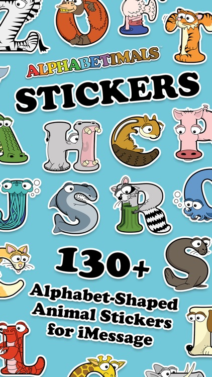 Alphabetimals Stickers