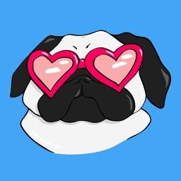 Mr. Puggy - Cute Pug Dog Stickers
