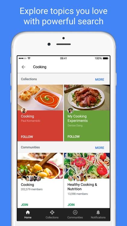 Google+ - interests, communities, discovery screenshot-3