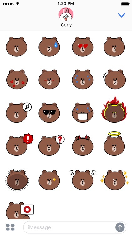 Sweet BROWN Emoji Stickers - LINE FRIENDS by LINE Friends ...