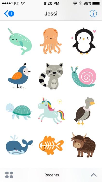 Various Animals Sticker