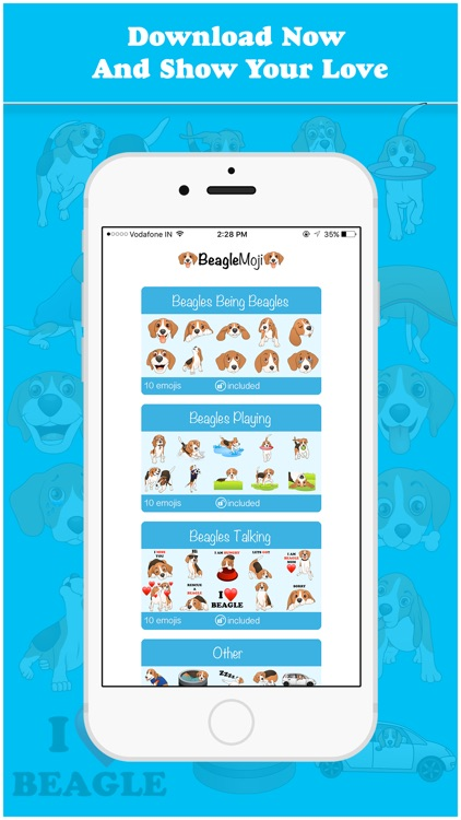 BeagleMoji - Cute Beagle Emojis & Stickers screenshot-4