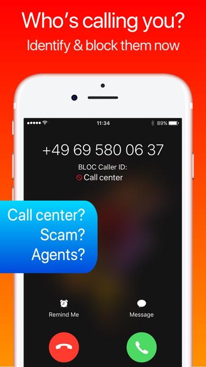 Call center blocker and identifyer - BLOC (DE)