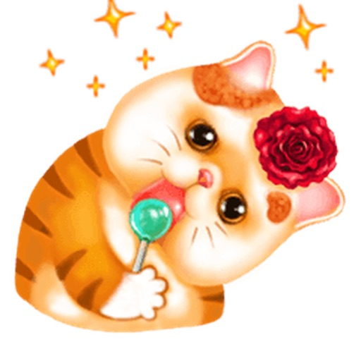 So Cute Cat Cartoon Sticker
