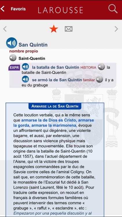 Grand Dictionnaire Espagnol/Français Larousse screenshot-3