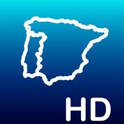 Aqua Map: Spain & Portugal - GPS Nautical Charts