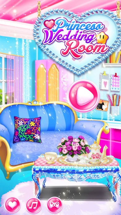Princess wedding room design girl games app download for Room design game app