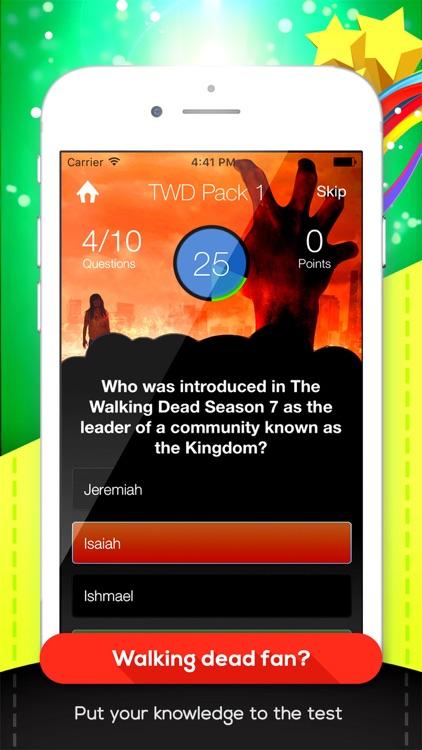 TWD Trivia - The Walking Dead Edition Quiz Game