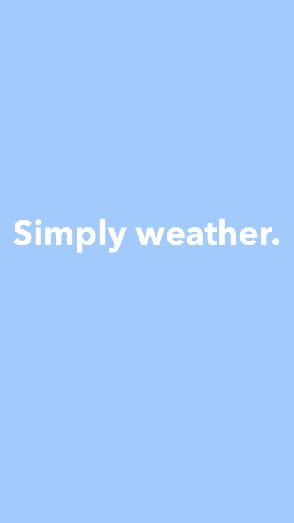 Simply Weather.