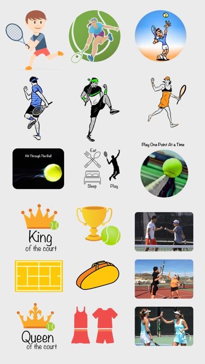 Fun Tennis Stickers