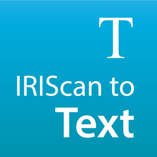 IRIScan to Text