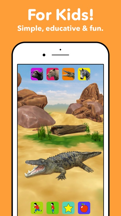 Zebra Safari Animals - Kids Game for 1-8 years old screenshot-1