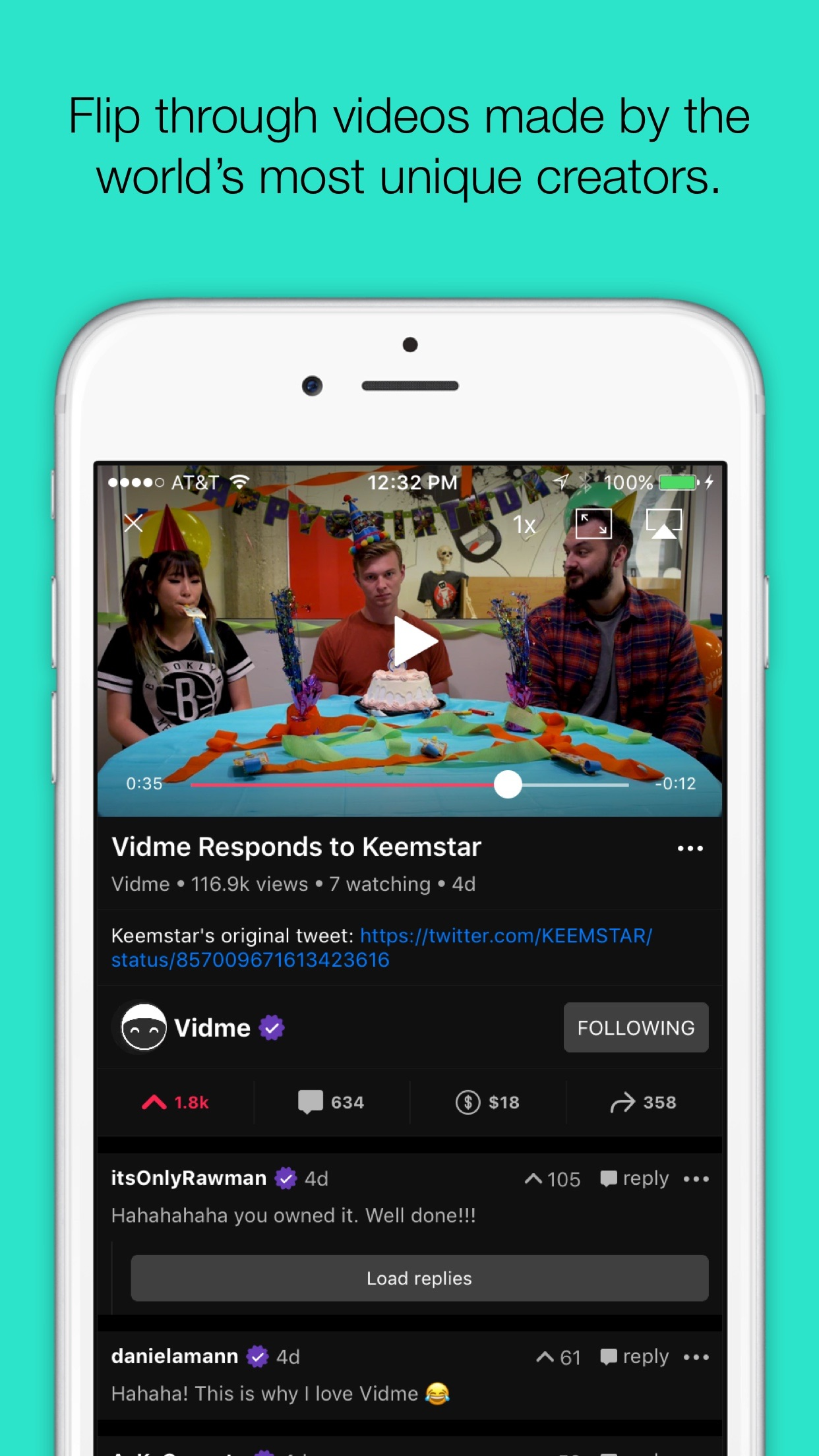 Vidme Screenshot