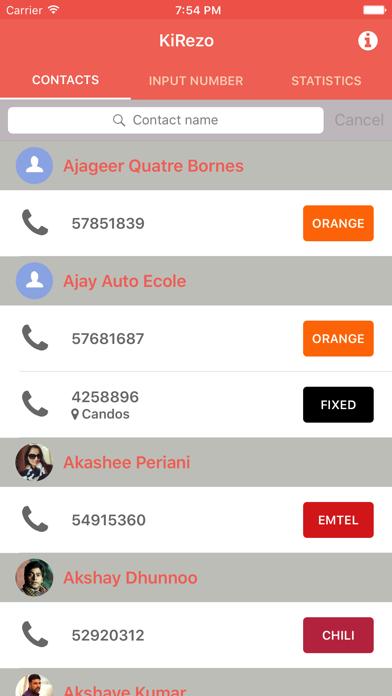 KiRezo-Check Mauritius numbers screenshot one