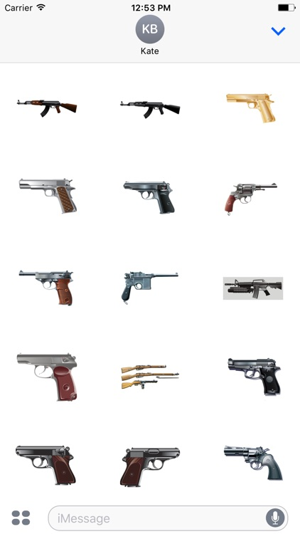 GunMojis - Awesome Gun Emojis And Stickers