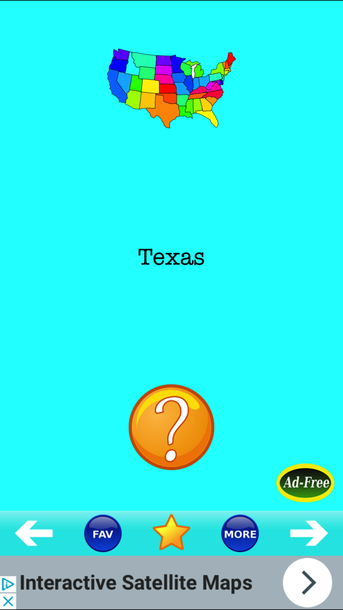 U.S. State Capitals! States & Capital Quiz Game Screenshot