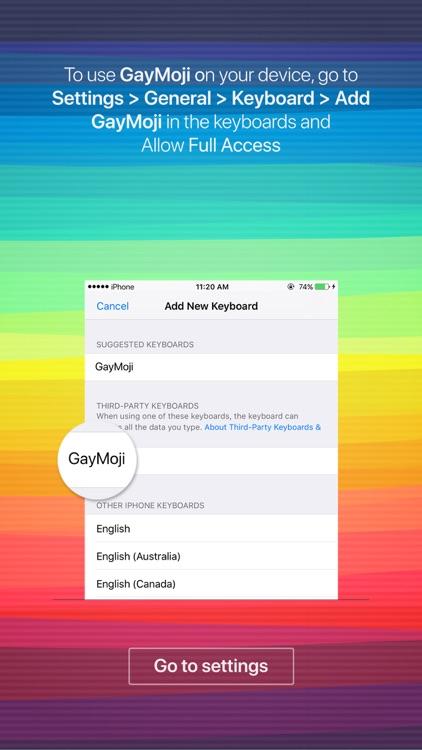 GayMoji - gay emojis keyboard for LGBT community screenshot-3