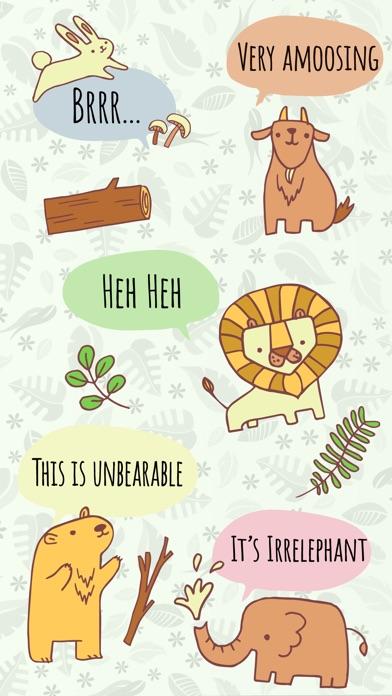 Zoo Friends - Fun Animal Puns with Speech Bubbles