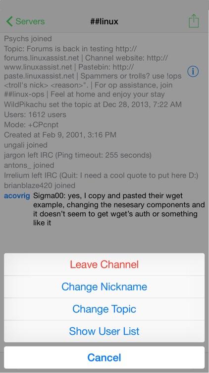 LimeChat - IRC Client screenshot-3