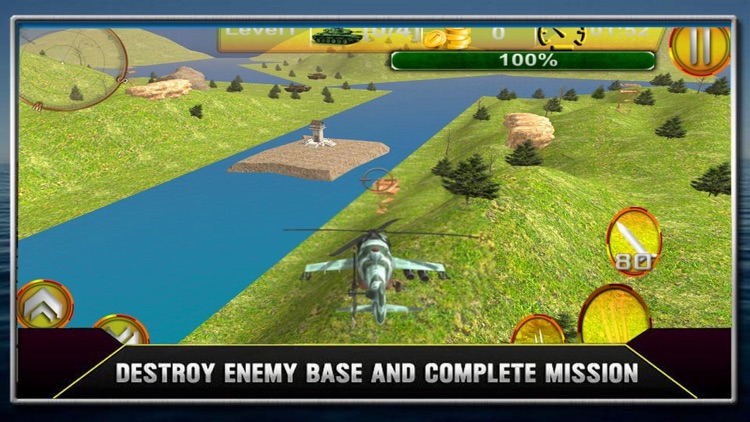HELICOPTER Shoot Rotket Simulation 3D