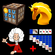Thinking Games Bundle - Chess, Sudoko, Brain Training & Solitaire