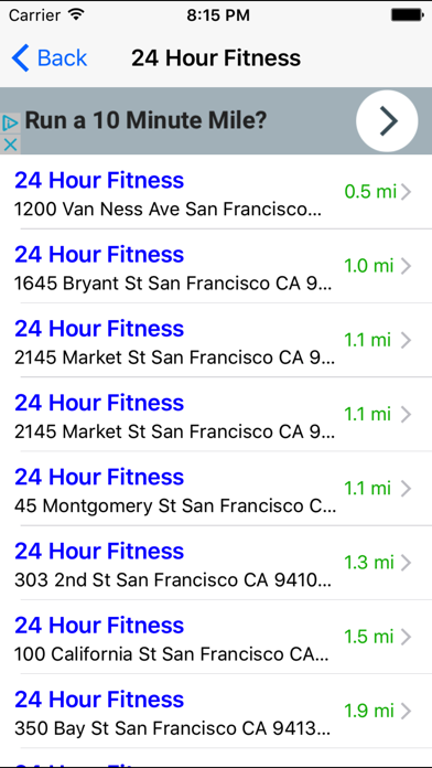 Gym Finder: Find Fitness Workout Gyms Near Me screenshot two