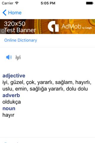 Turkish English Dictionary - náhled