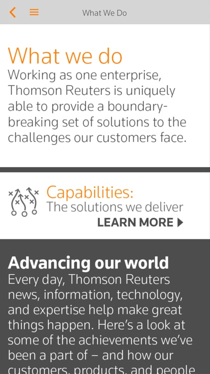 Thomson Reuters Our Story