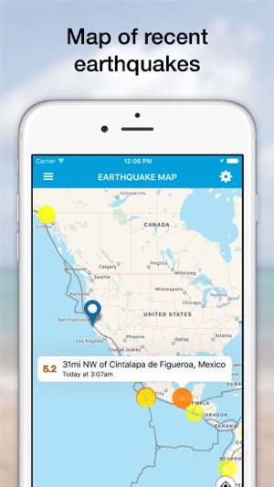 Equake earthquake alerts sensor network on the app store gumiabroncs Image collections