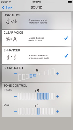 Home theater controller us on the app store for Yamaha yas 106 vs 107