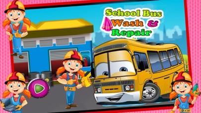 School Bus Wash And Repair - kids Game screenshot one